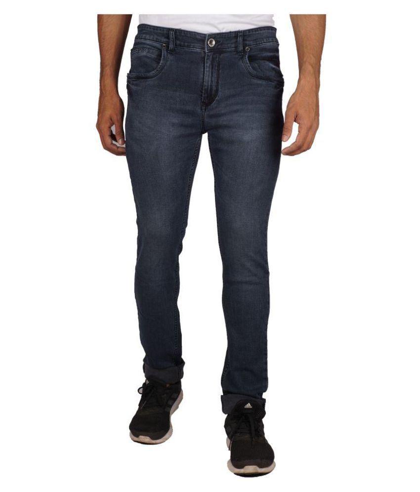 Crossedge Black Regular Fit Jeans