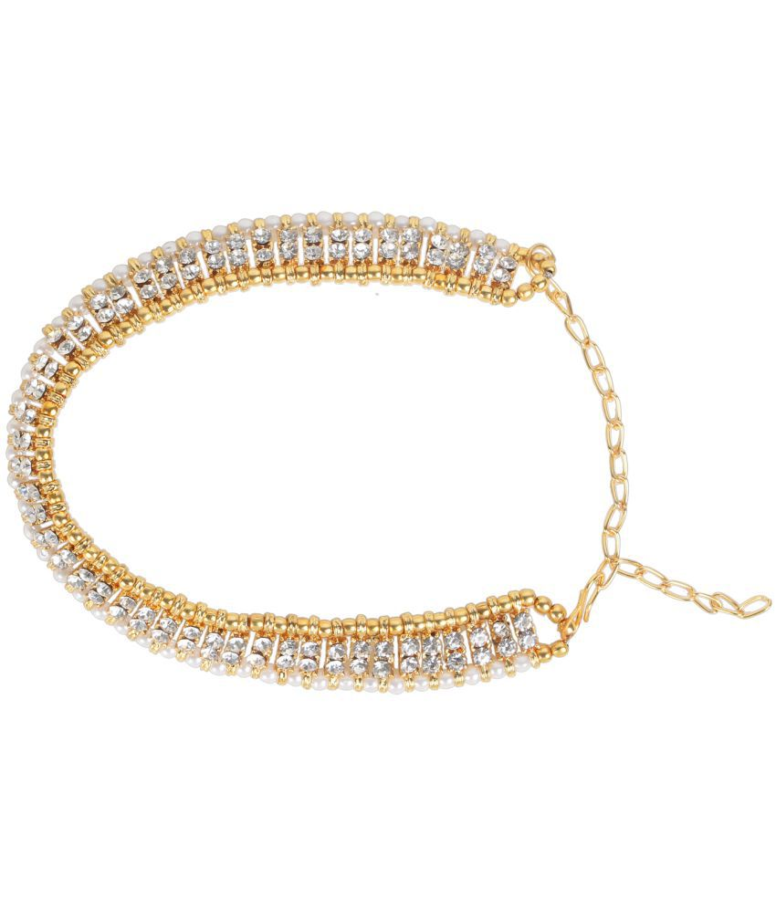 Dancing Girl Bridal Wedding White Metal Alloy Payal Anklet for Woman