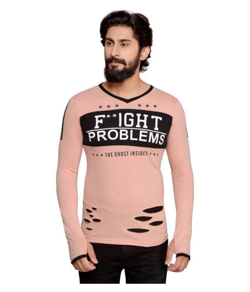 Fashion Fever Pink V-Neck T-Shirt Pack of 1