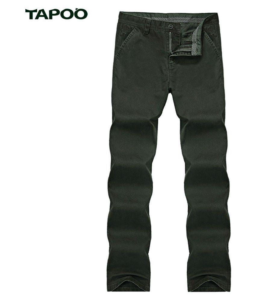 Whitleys Green Regular -Fit Flat Trousers
