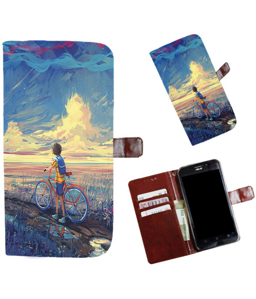 Micromax YU Yunicorn Flip Cover by Snooky - Multi