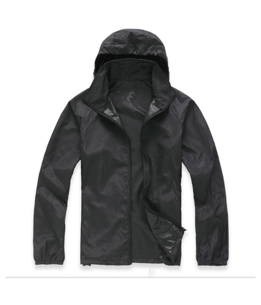 Changing Destiny Polyester Long Raincoat - Black