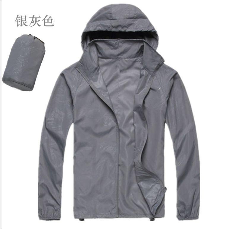 Changing Destiny Polyester Long Raincoat - Grey