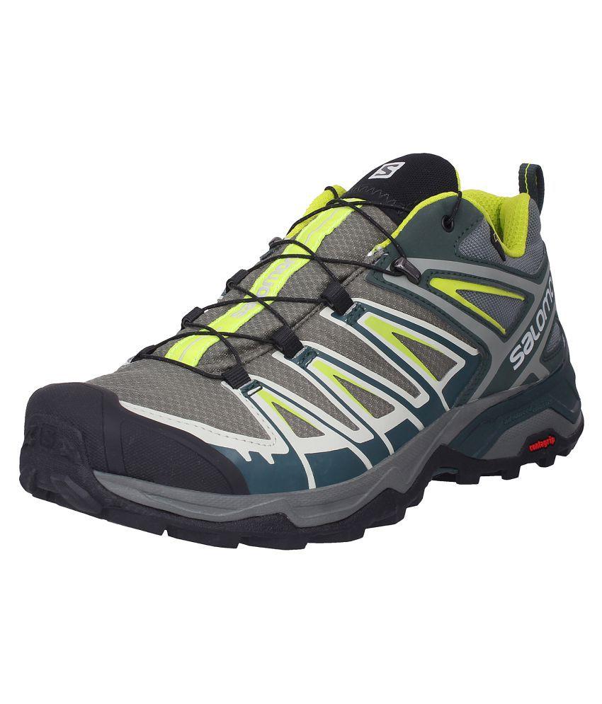 the latest 90d16 b56f6 Salomon X ULTRA 3 GTX Gray Hiking Shoes