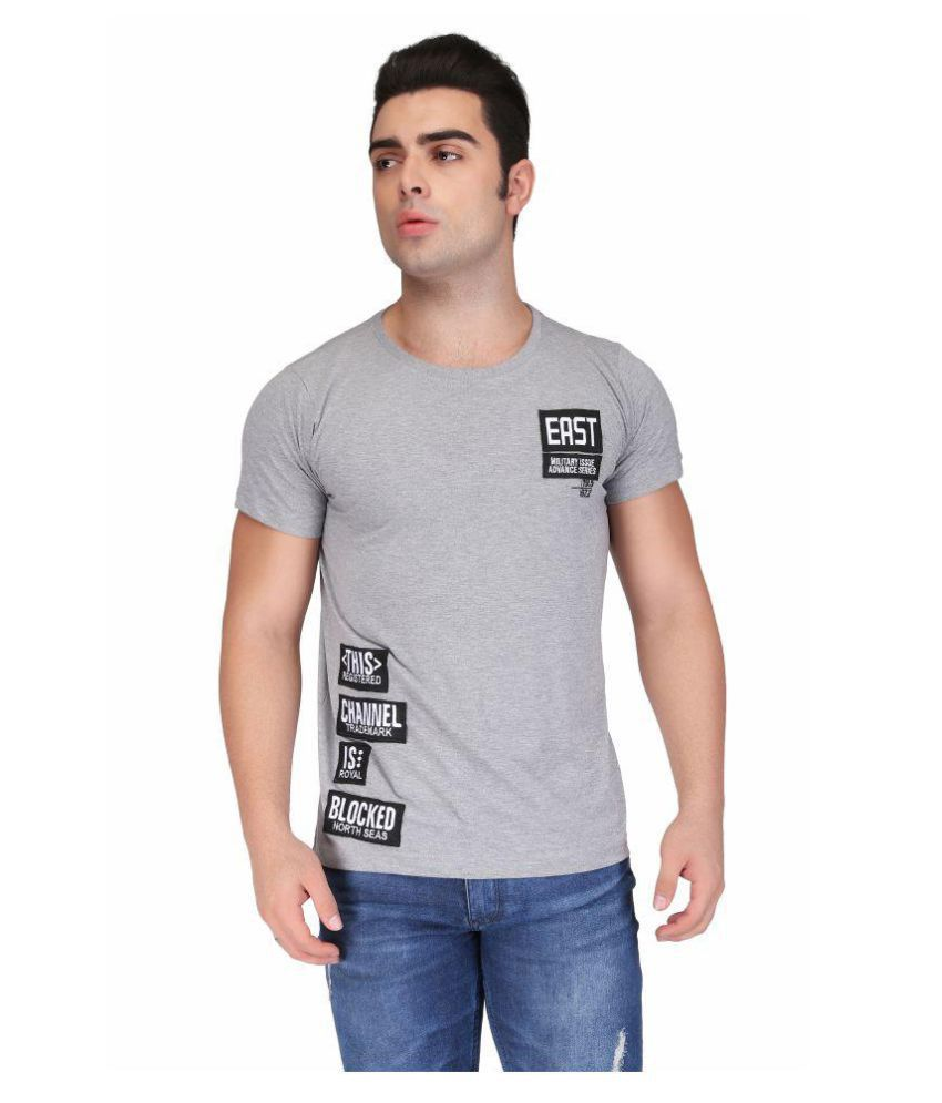 Be-Beu Grey Round T-Shirt Pack of 1