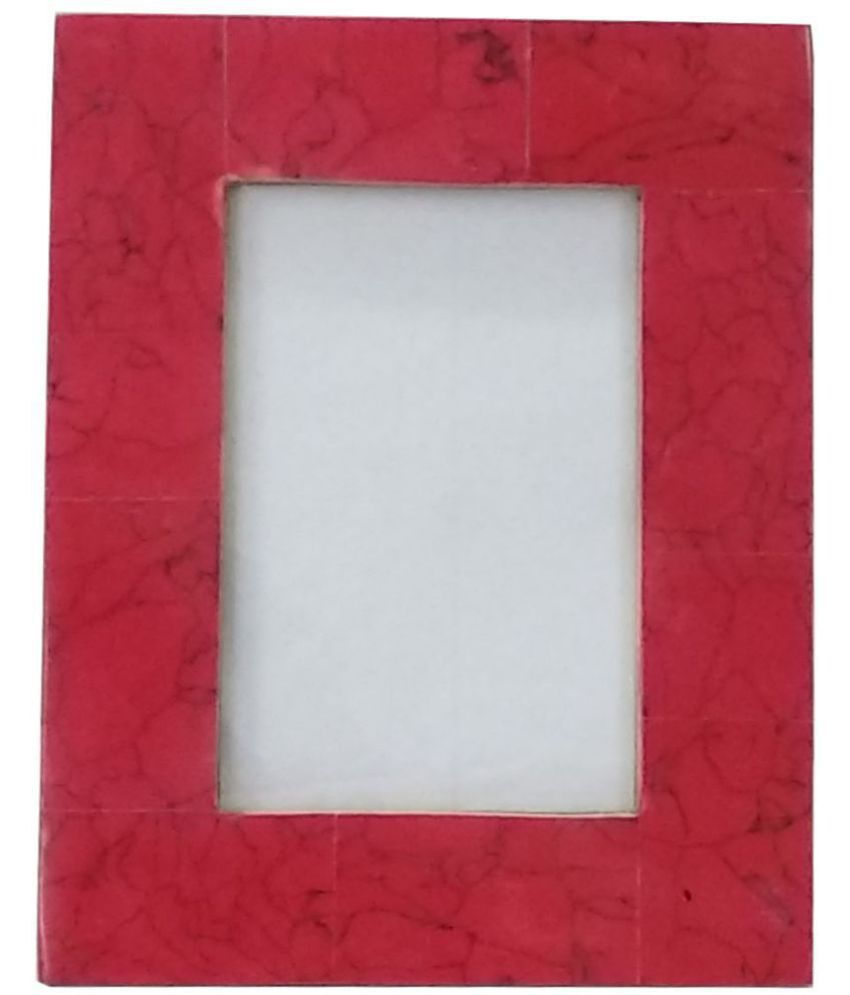 UNI DECORS Resin Red Single Photo Frame - Pack of 1