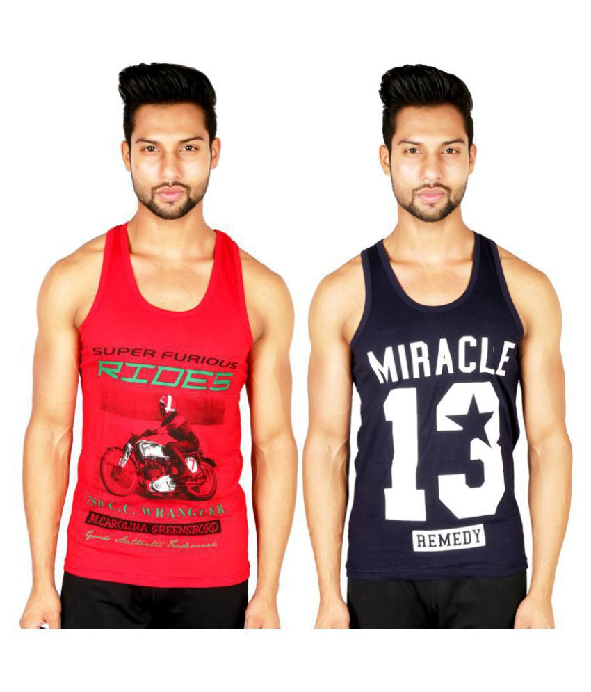 f6ec51a8c0644d White Moon Multi Sleeveless Vests Pack of 2 - Buy White Moon Multi Sleeveless  Vests Pack of 2 Online at Low Price in India - Snapdeal