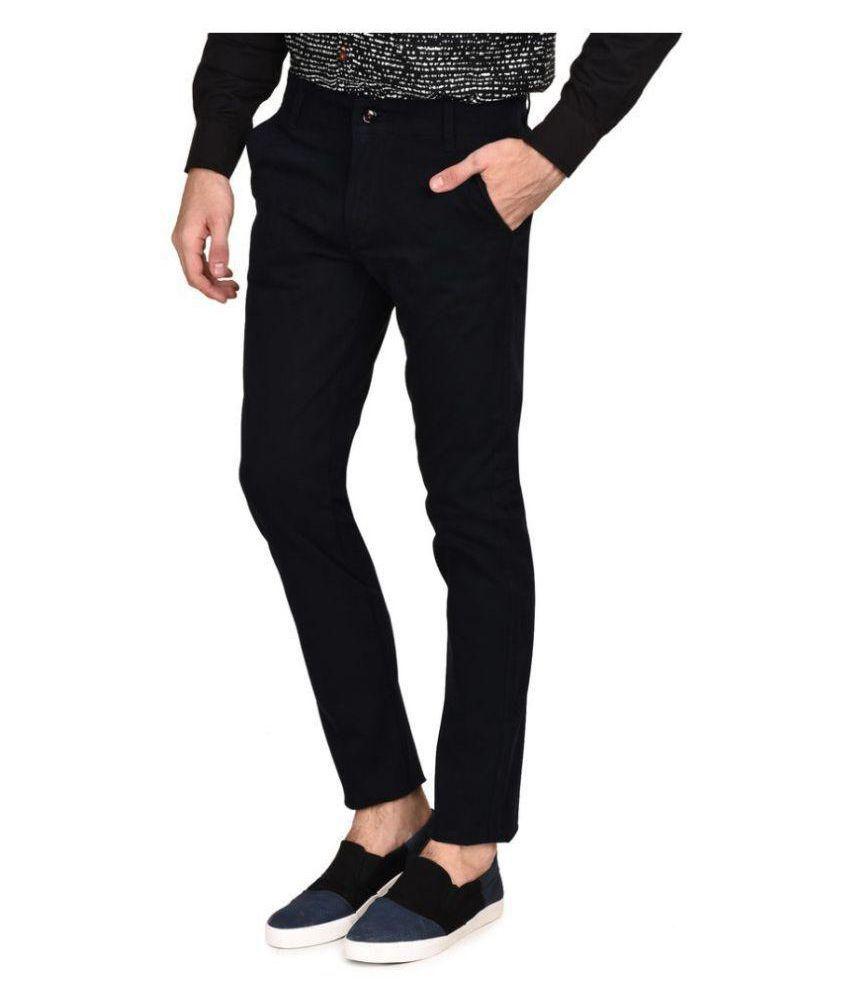 A&K Coffee Slim -Fit Flat Trousers
