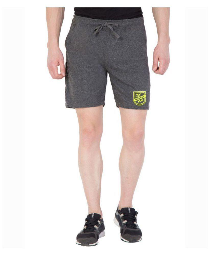 American-Elm Grey Shorts