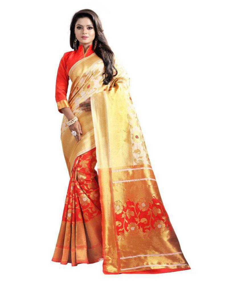 OM FASHION Multicoloured Banarasi Silk Saree
