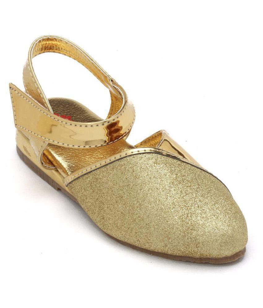 SPRING BUNNY - Toddler Girl 'Shine On' Gold Sandal Shoes.