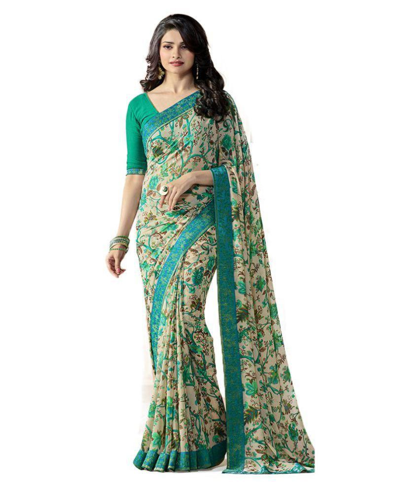 Zurich Enterprise Multicoloured Georgette Saree