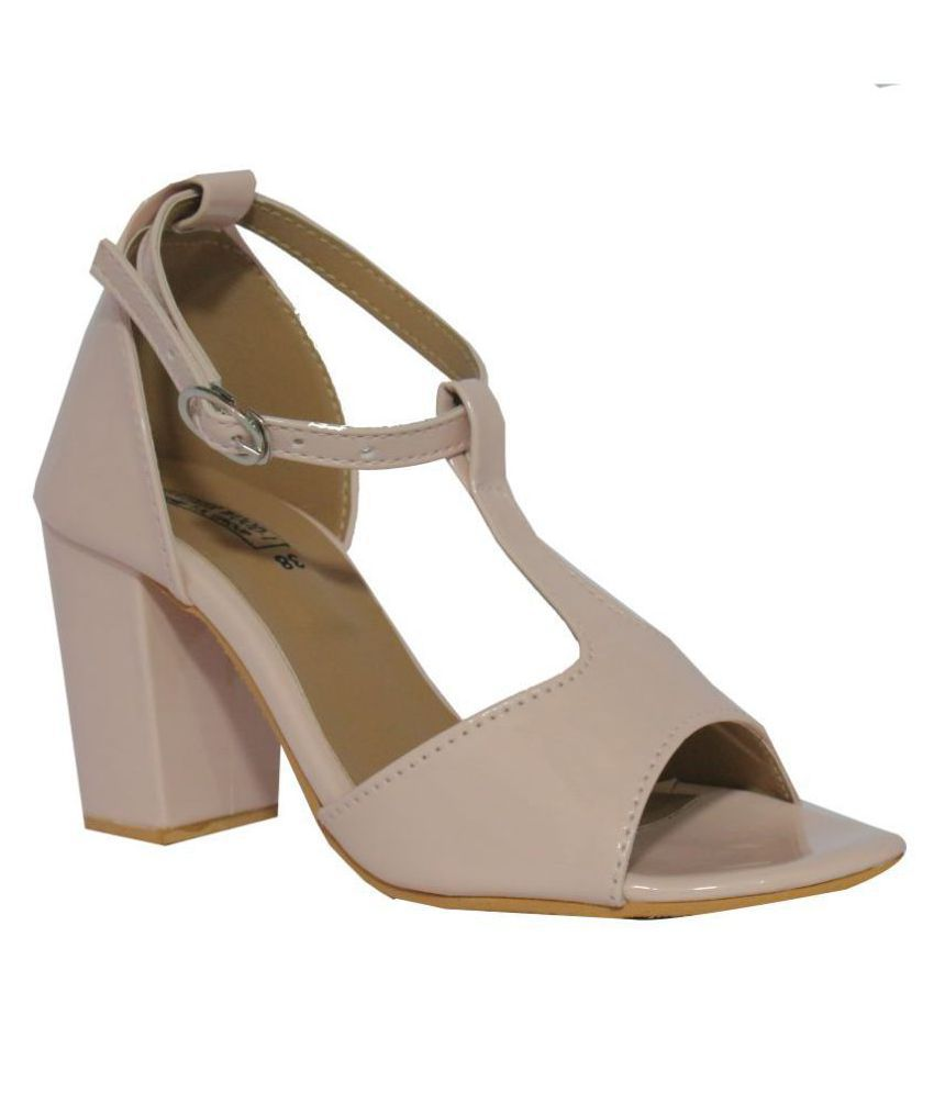 Leatherwood1 Pink Block Heels