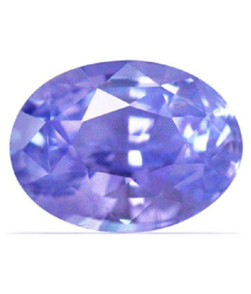 SPIRITUALCART 6.75 -Ratti IGL Blue Blue Sapphire (Neelam) Precious Gemstone