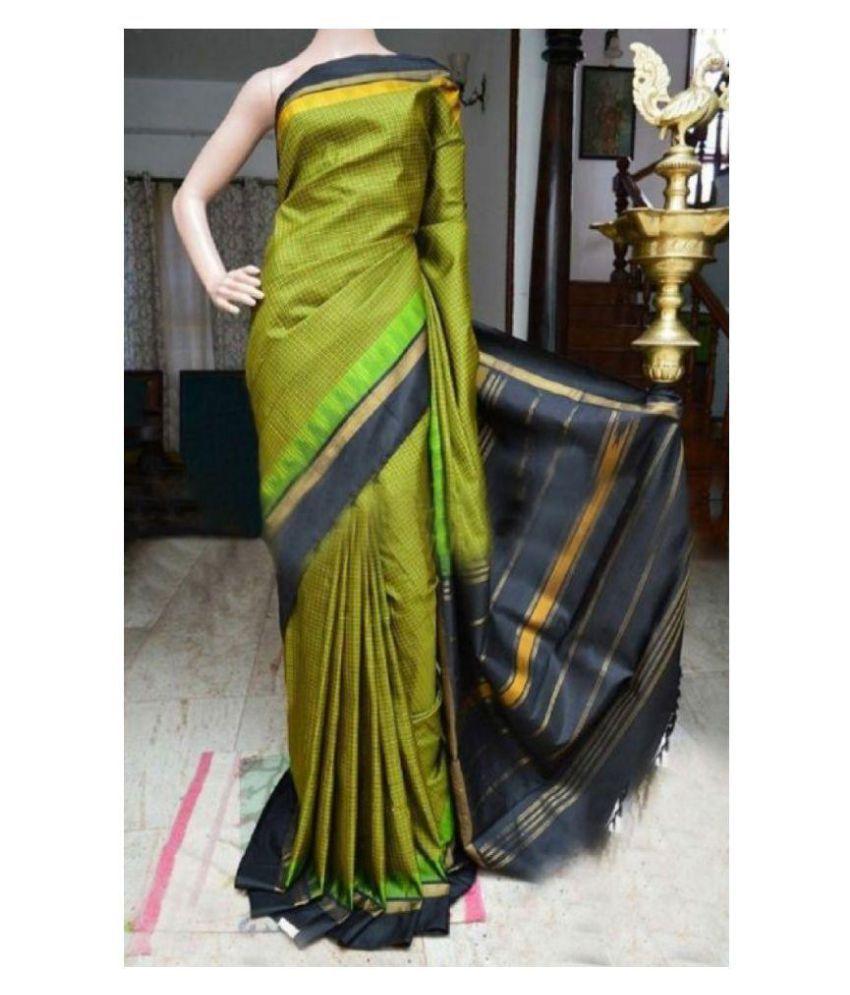 Home deal Multicoloured Banarasi Silk Saree