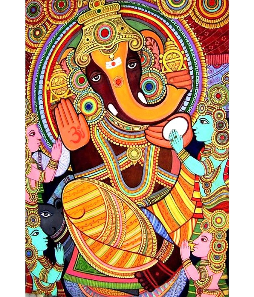 Mahalaxmi Art Craft Om Namo Ganashyay Creative Art Paper Wall