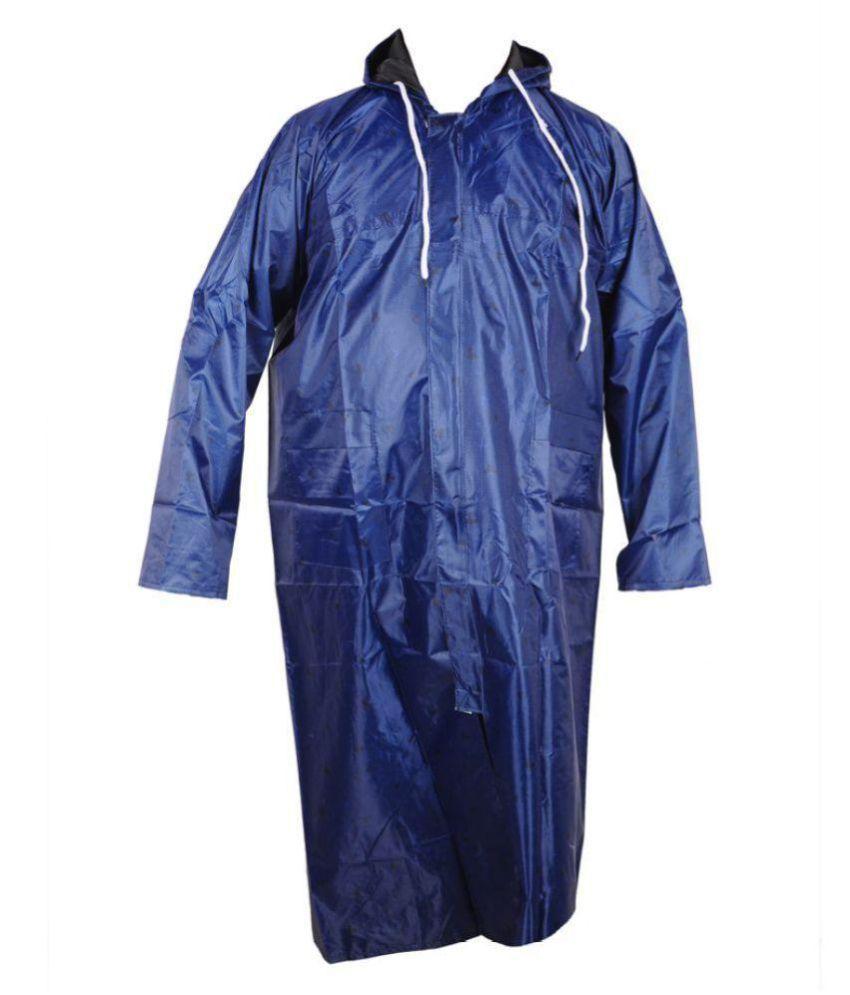Kartikeya Trading Polyester Long Raincoat - Blue