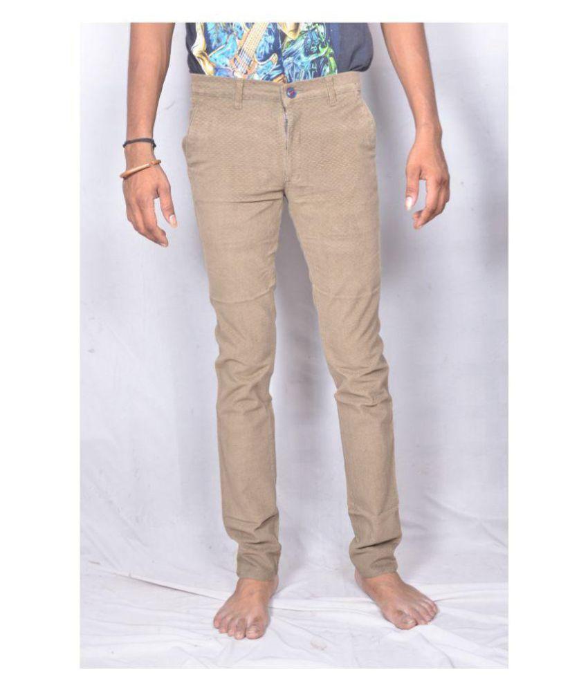 Rate plus Dark Brown Slim -Fit Flat Trousers