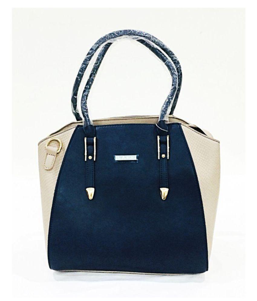 XFACTOR Blue Faux Leather Handbags Accessories