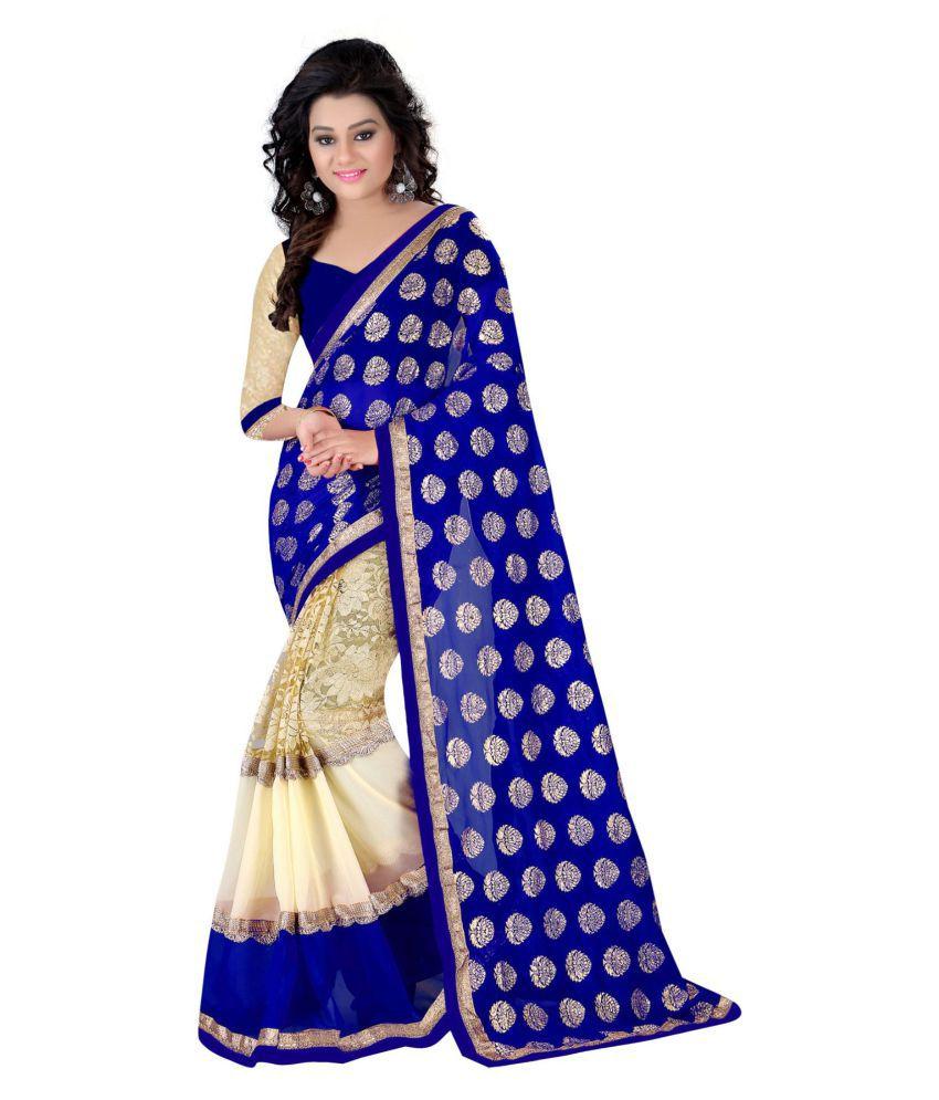 Shivani Fashion Blue Georgette Saree