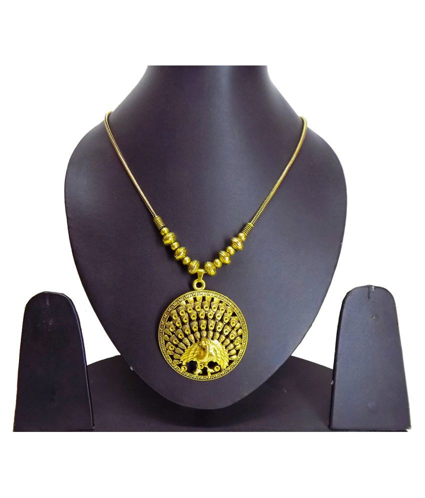 KAVOO Golden Plated Traditional Look Necklace for Women and Girls