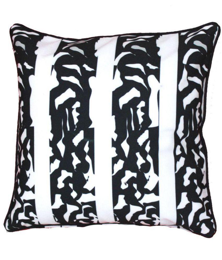 salgon Single Poly Cotton Cushion Covers 40X40 cm (16X16)