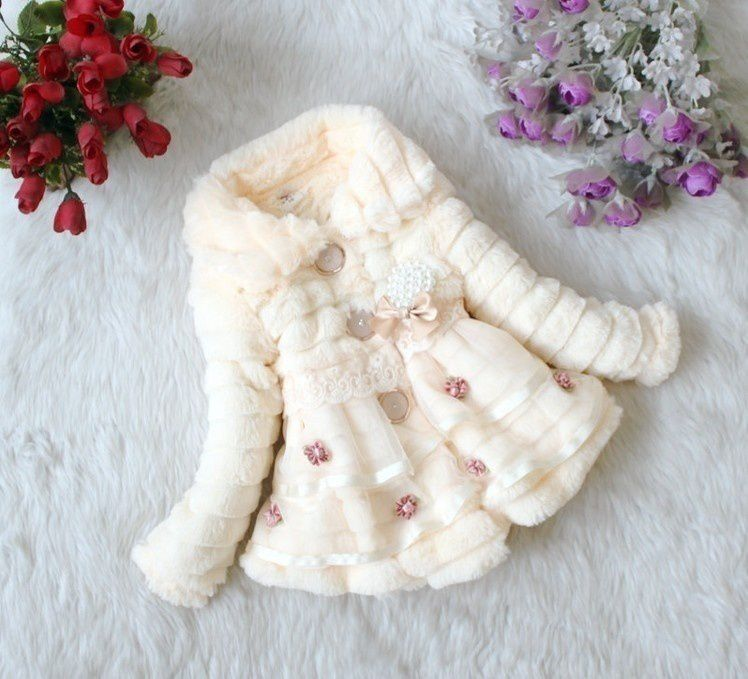 Changing Destiny Faux Fur Fleece Lined Coat Kids Winter Warm Jacket