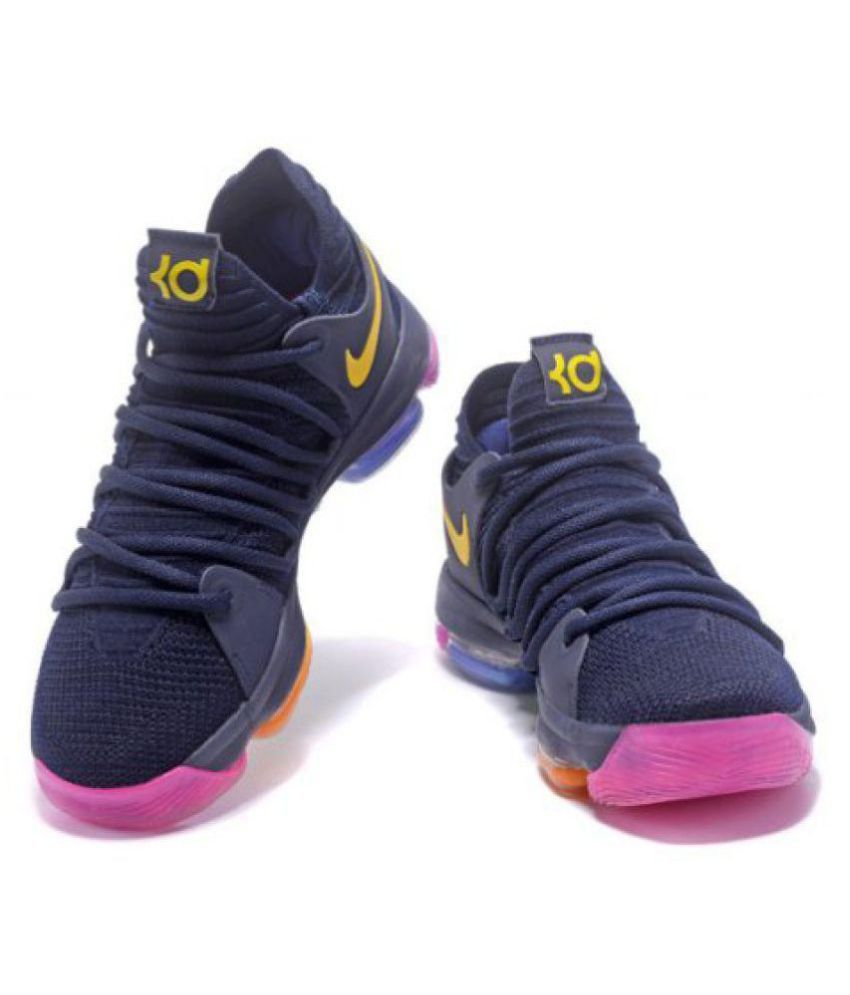 super popular 8f12e e92a8 ... Nike KD 10 New Edition Navy Basketball Shoes ...