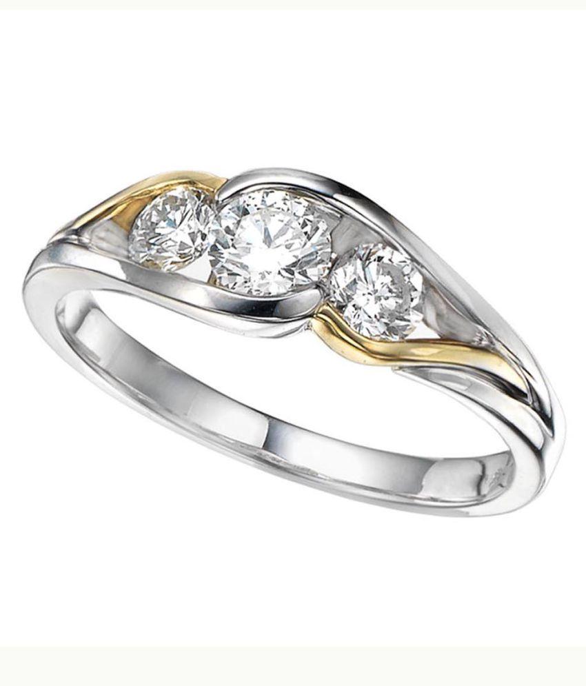 Kiara 92.5 Silver Cubic zirconia Ring