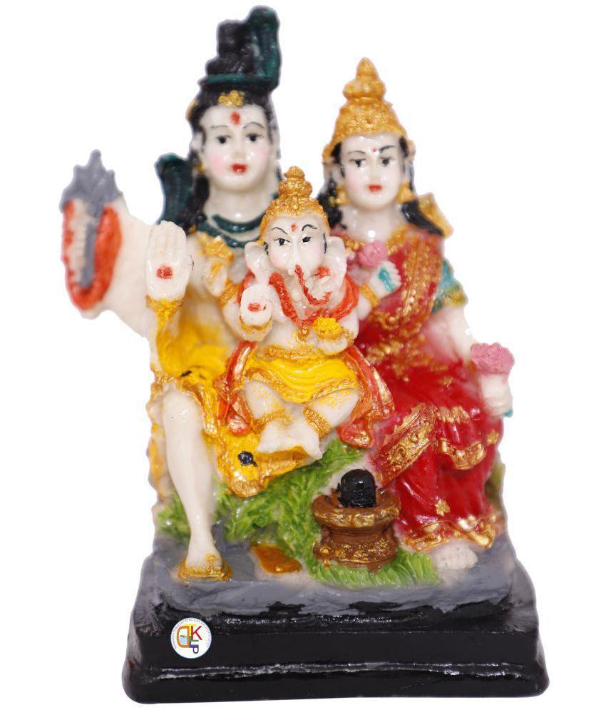 KDT Shiv Family Polyresin Idol