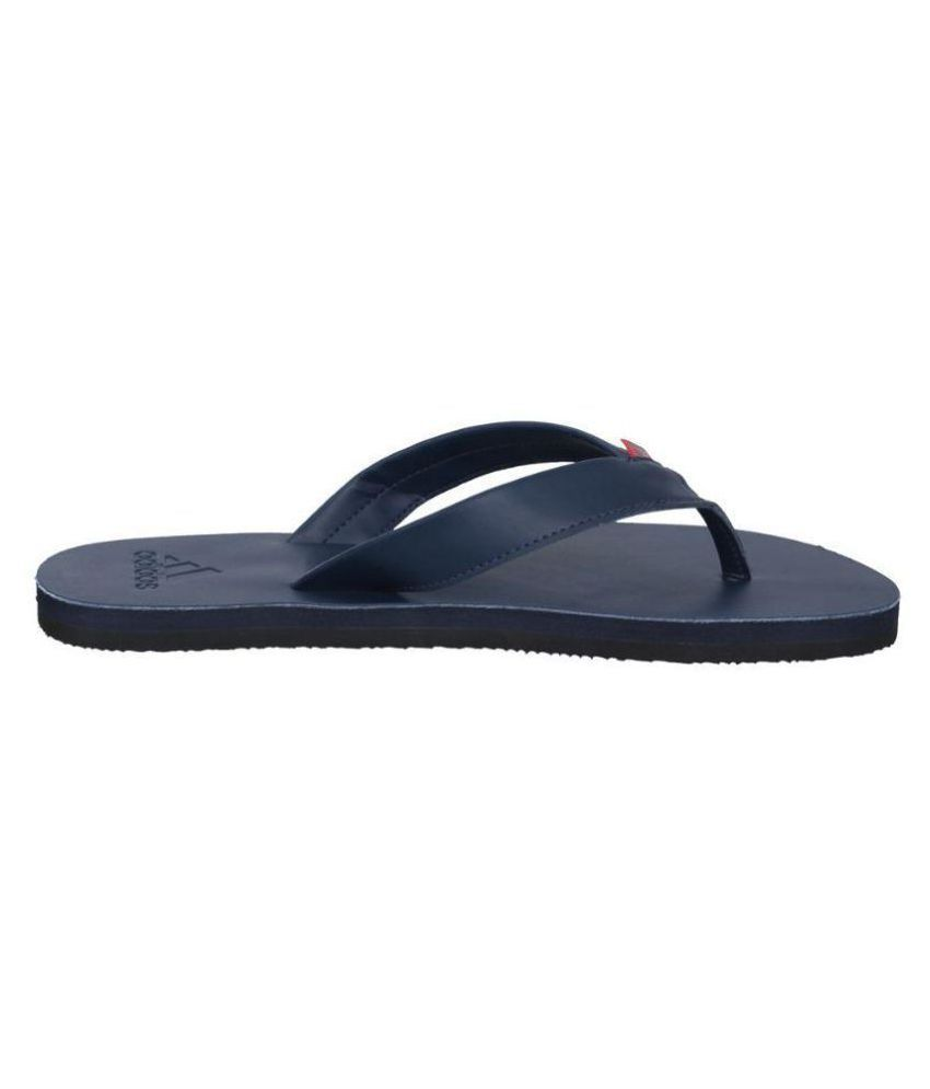 43b0dd28b43 Adidas Brizo 3.0 Blue Leather Flip Flops Price in India- Buy Adidas ...