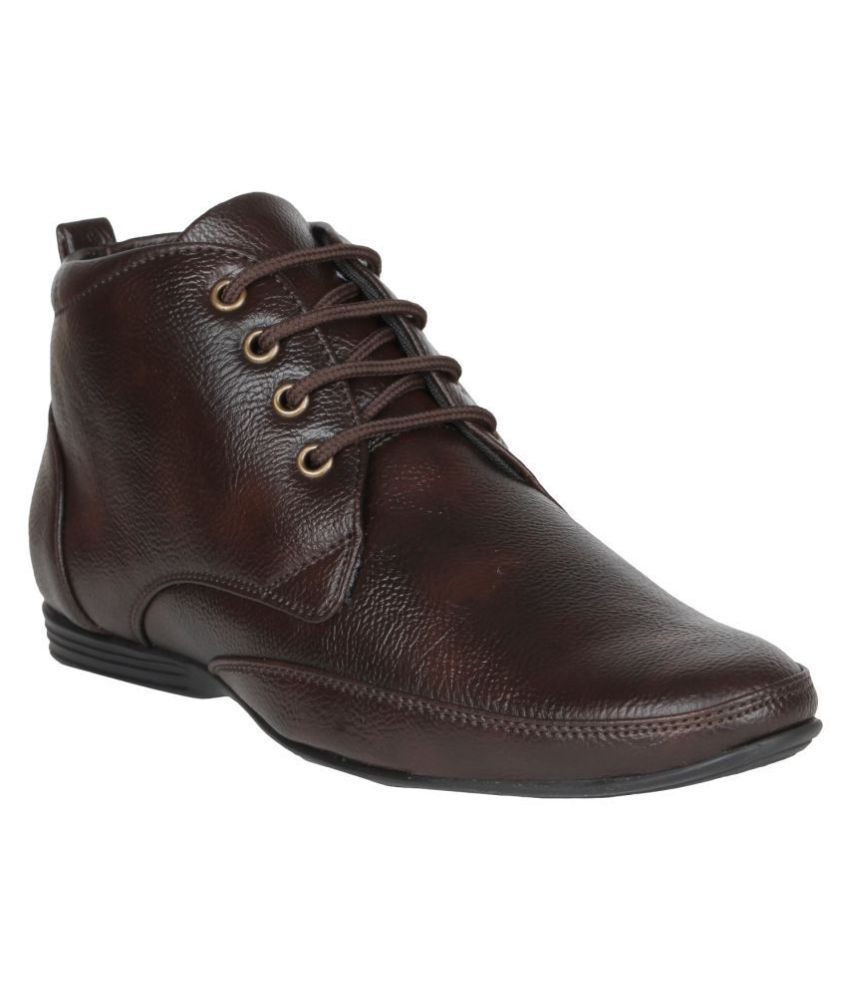 7260619cddd FANGIRL Derby Genuine Leather Brown Formal Shoes