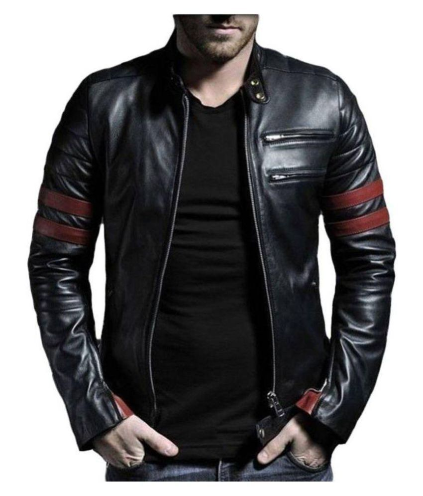 58740ea3dd Leather Retail Black Casual Jacket - Buy Leather Retail Black Casual Jacket  Online at Best Prices in India on Snapdeal