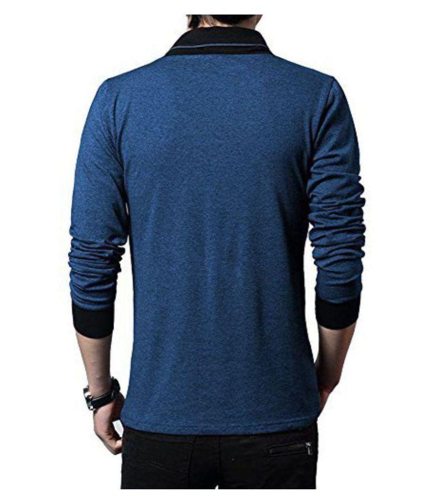 ae17f6a99de Try This Blue V-Neck T-Shirt - Buy Try This Blue V-Neck T-Shirt Online at  Low Price - Snapdeal.com
