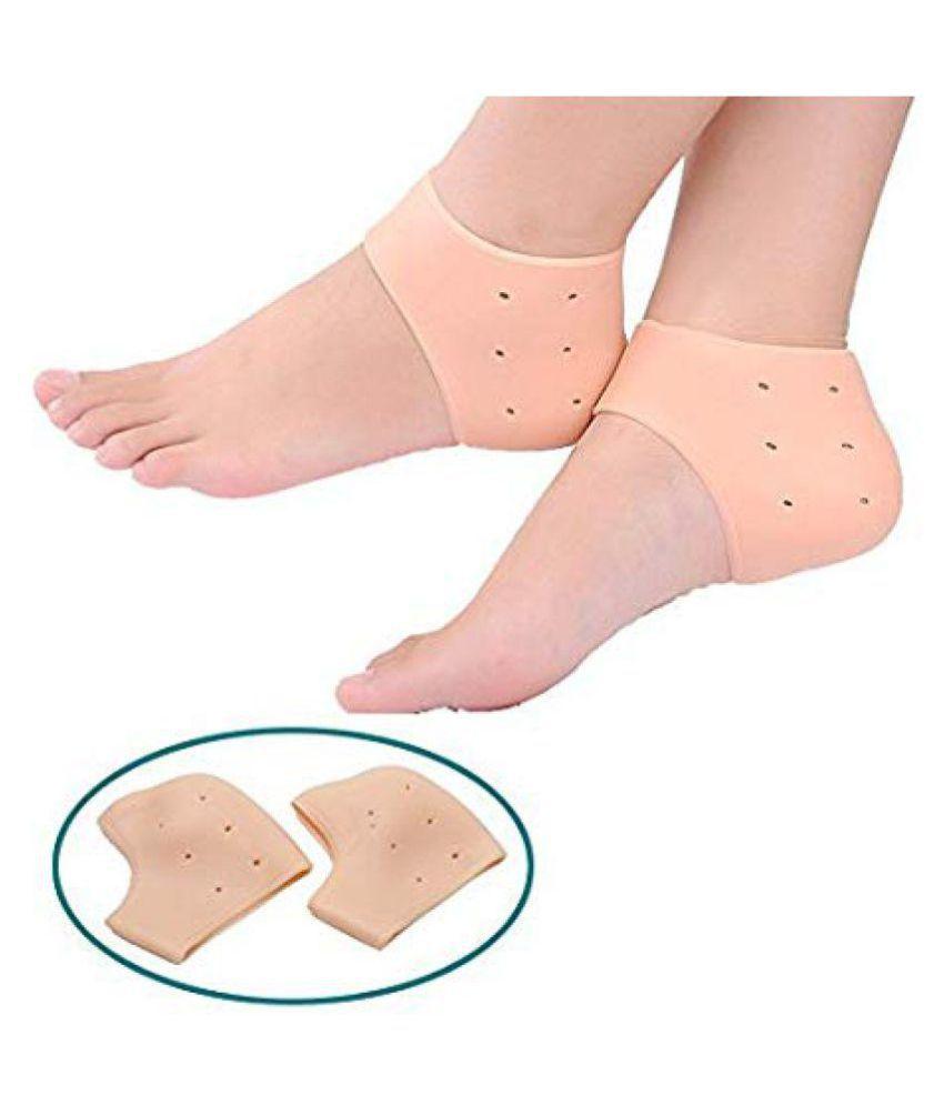 ROYALDEAL Silicone Gel Heel Pad Socks Silicone Heel Protector Silicone Heel Protector Pack Of 1