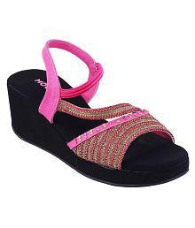 Mochi PINK Wedges Heels