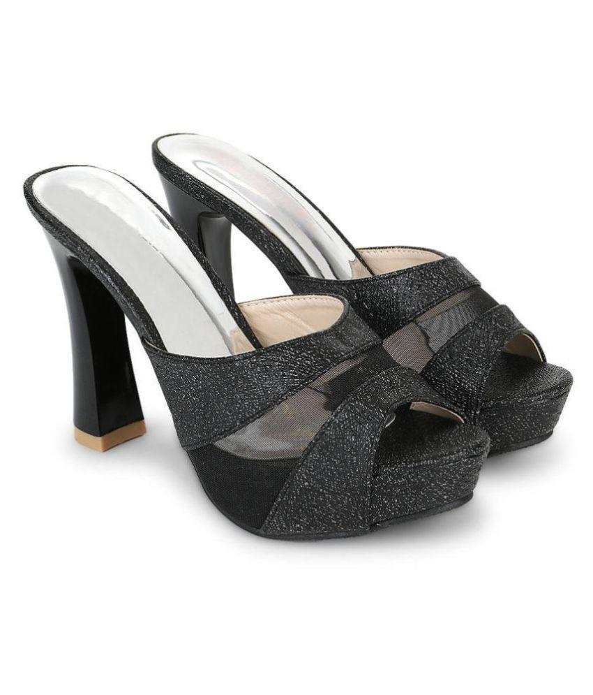 Bello Pede Black Kitten Heels