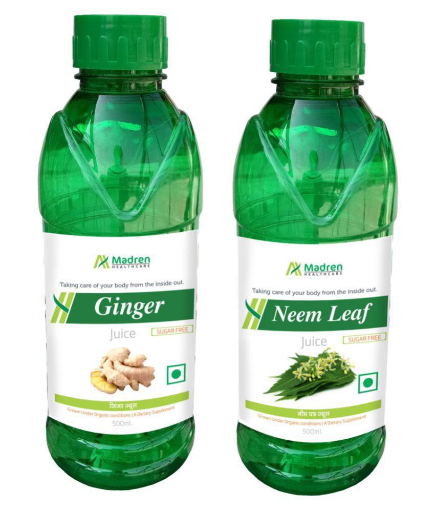 Madren Healthcare Ginger & Neem Juice Health Drink 1000 ml