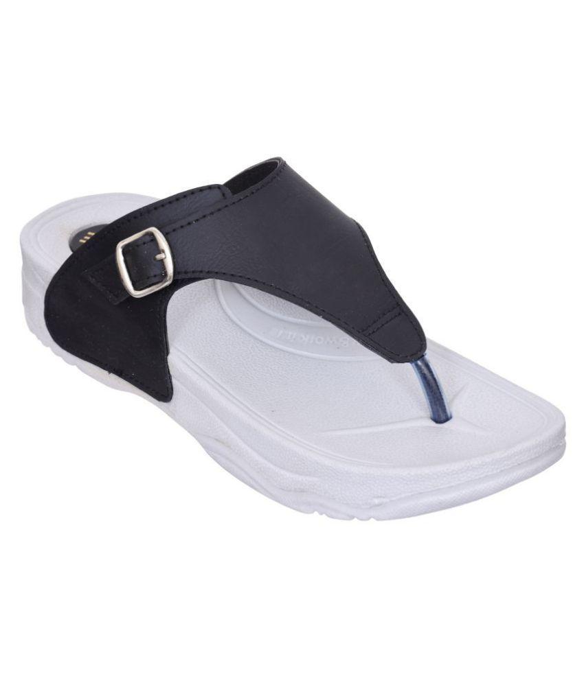 Altek Black Slippers