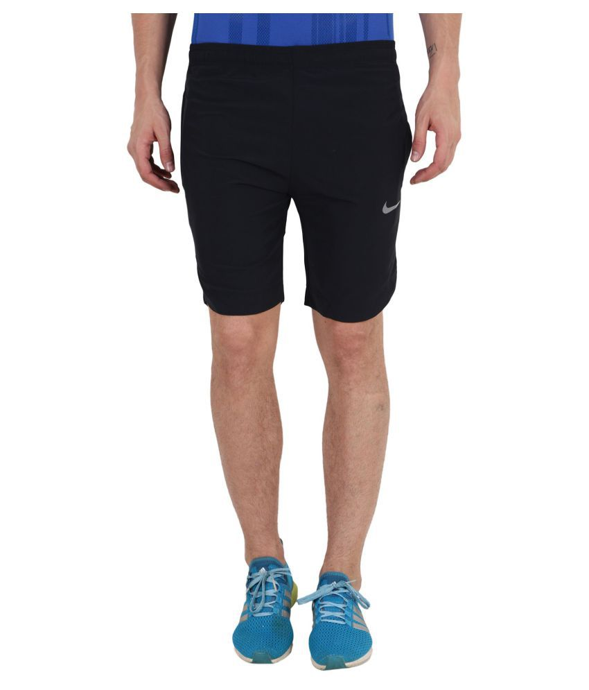 Nike Black Polyester Lycra Running Shorts - Buy Nike Black Polyester Lycra  Running Shorts Online at Low Price in India - Snapdeal e0a9b4eab