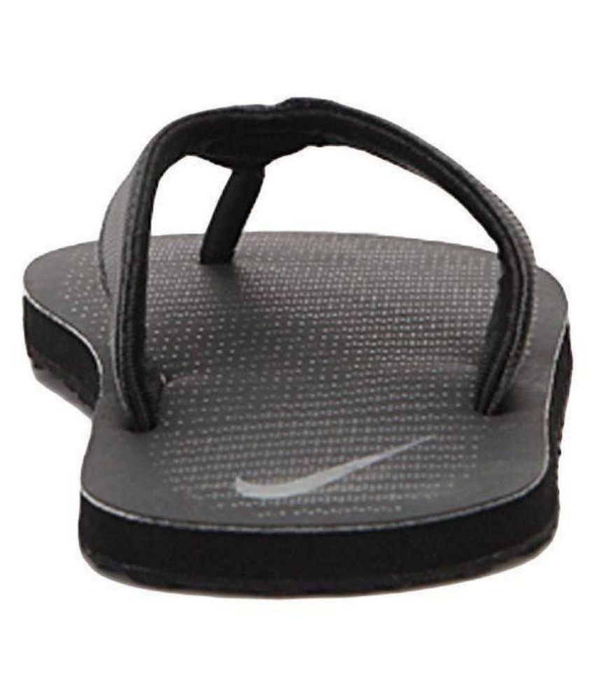 7025cfb2b193c Nike Chroma Thong 5 Black Grey Black Daily Slippers Price in India ...