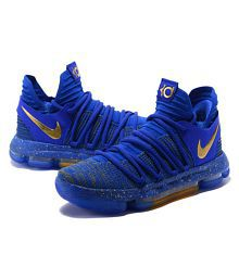 separation shoes f9664 60cc8 Quick View. Nike 2018 KD10 BLUE GOLD Blue Basketball Shoes