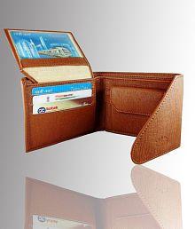 Woodland Imports PU Tan Formal Short Wallet