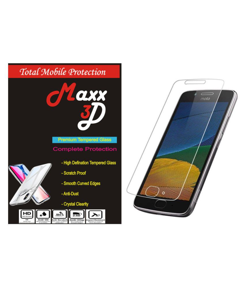Moto G5 Plus Tempered Glass Screen Guard By MAXX3D