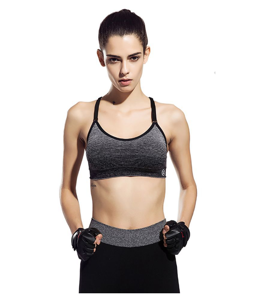 b61a327553 Buy HONEY BAE Polyester Sports Bra - Black Online at Best Prices in India -  Snapdeal