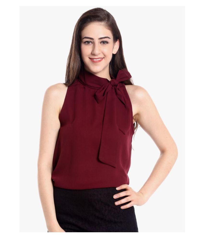 c12f66d7925116 The Bebo Crepe Regular Tops - Maroon - Buy The Bebo Crepe Regular Tops - Maroon  Online at Best Prices in India on Snapdeal