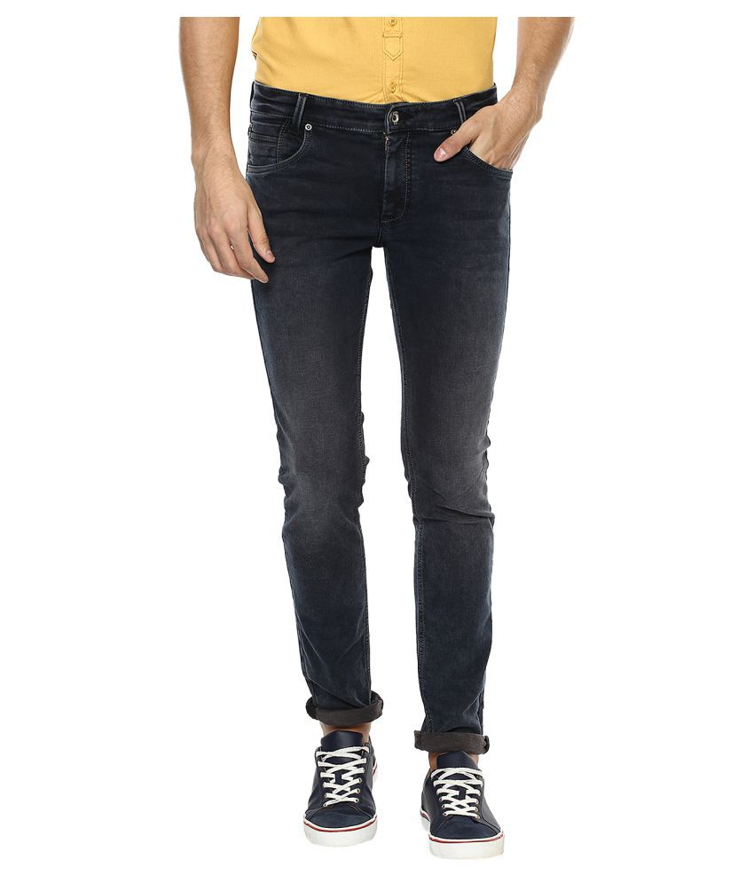Mufti Black Straight Jeans