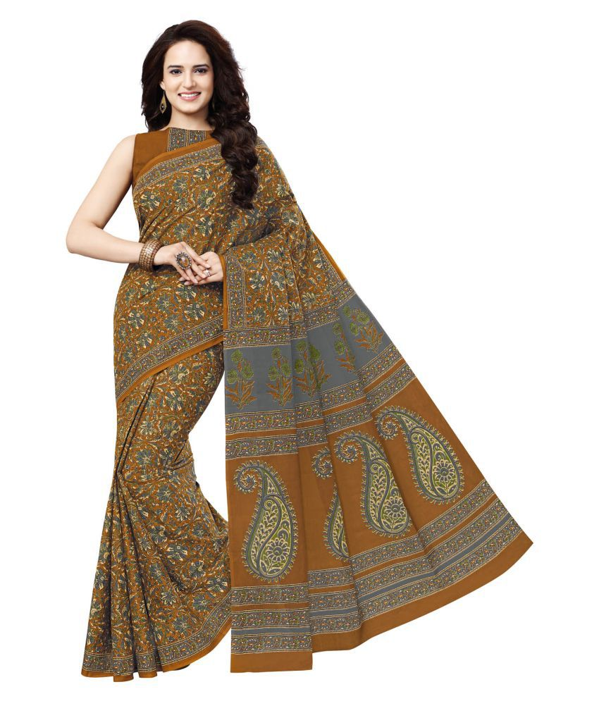 Salwar Studio Multicoloured Cotton Saree