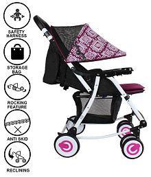 ABDC Kids Multicolour Baby Stroller 2-IN-1 Rocker