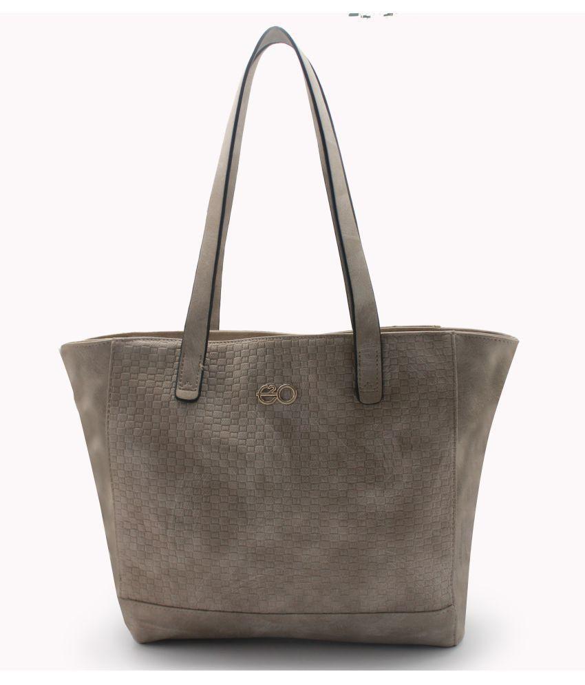 E2O Fashion Beige P.U. Tote Bag